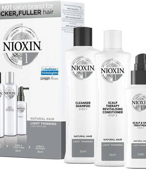 3-СТУПЕНЧАТАЯ СИСТЕМА NIOXIN №1 (300 мл) для натуральных волос с тенденцией к истончению